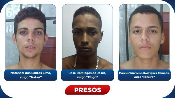 Polícia Civil prende três assaltantes por roubos em Estância