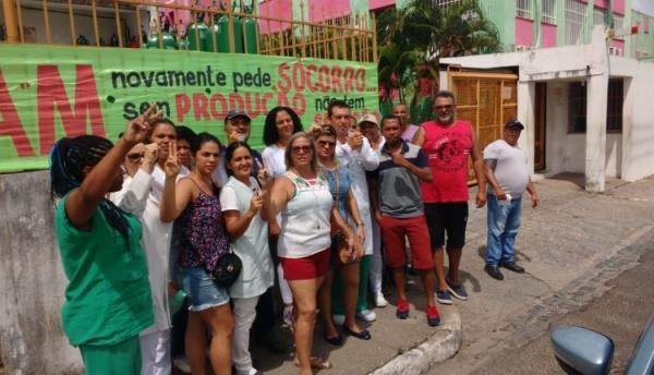 Estância: Funcionários do Hospital Amparo de Maria continuam em greve