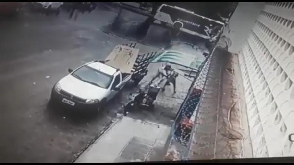 Câmeras registram tentativa de homicídio em Estância