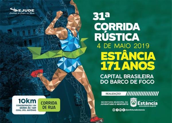 Prefeitura de Estância realizará a 31ª Corrida Rústica em alusão ao aniversário da cidade