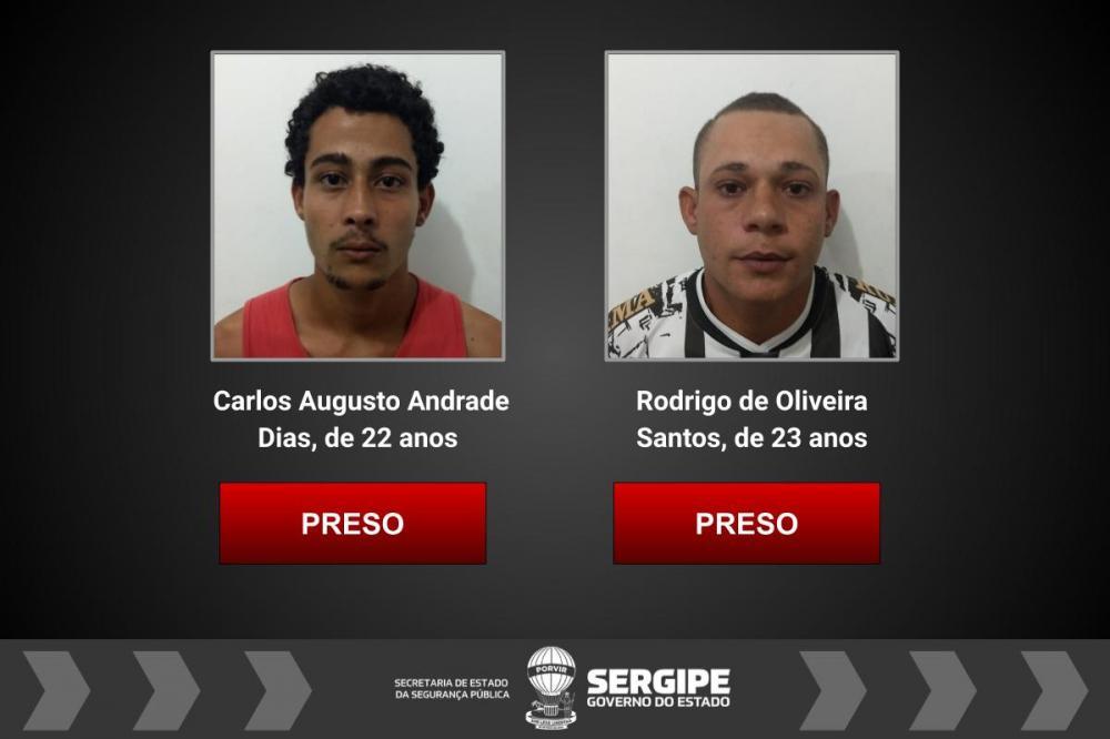 Polícia Civil de Estância prende dois suspeitos por roubo majorado