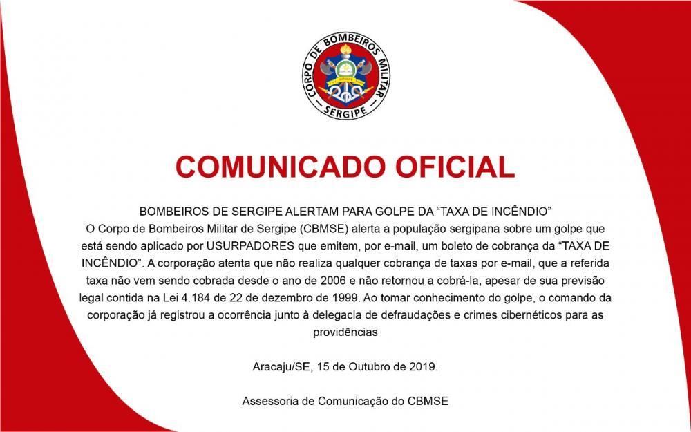 Corpo de Bombeiros alerta para fraude de taxa de incêndio