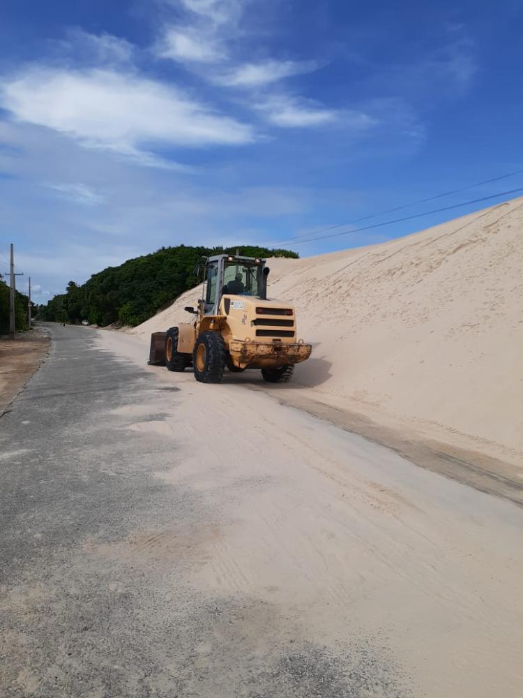 DER intensifica as ações no acesso a Praia do Saco