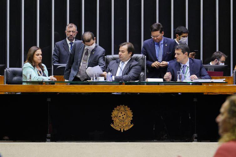 Presidente da Câmara, Rodrigo Maia, conduziu sessão virtual da Casa Pablo Valadares/Câmara dos Deputados