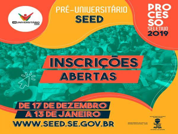 Pré-Universitário do Governo de Sergipe continua com inscrição aberta