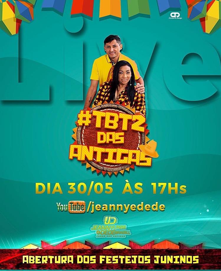 Jeanny Lins e Dedé Brasil farão live 'TBT das Antigas' neste sábado, 30