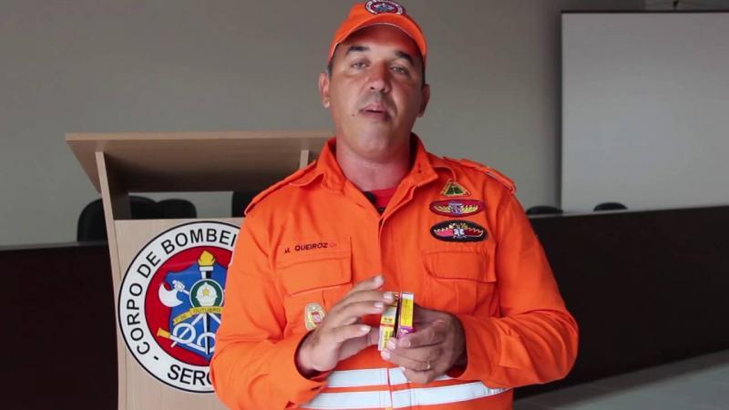 Bombeiros de Sergipe alertam sobre o uso de fogos de artifícios